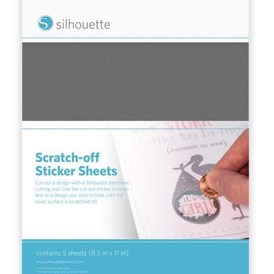 Scratch off sticker sheets silver