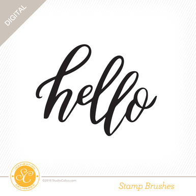 Sc homespun stamp hello preview