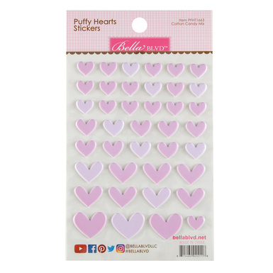 Sc shop stickers puffy hearts cotton candy mix 2