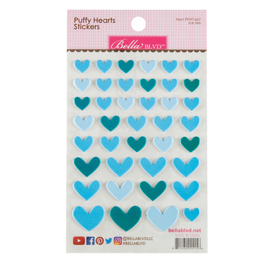 Sc shop stickers puffy hearts ice mix