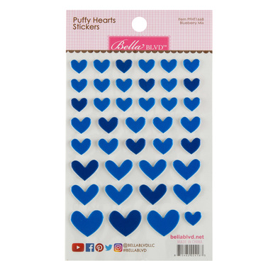 Sc shop stickers puffy hearts blueberry mix