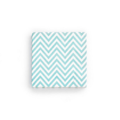 Light blue chevron napkin