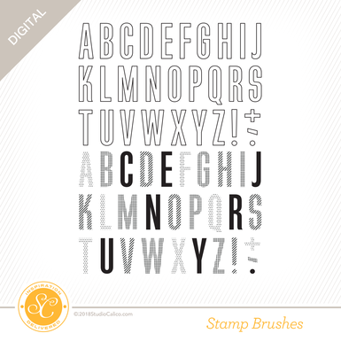 52175 sc bookish 6x8 alphabet stamp preview