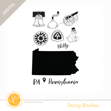 80969 digital color me happy pennsylvania stamp preview