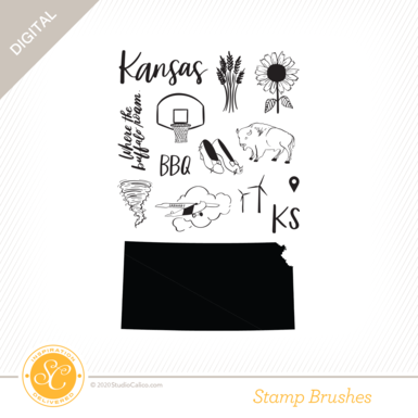 84517 sc digital full bloom kansas stamp preview