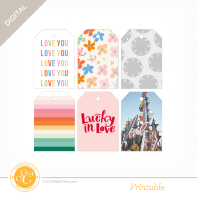 T8150 lucky in love printable tags preview