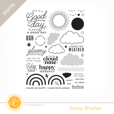T8876 good day sunshine 6x8 stamp preview