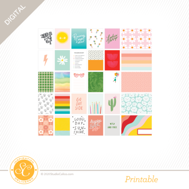 T8877 good day sunshine journal cards a side preview