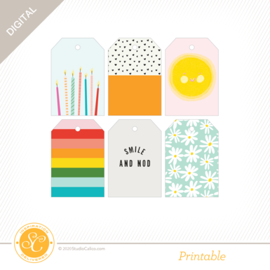T8879 good day sunshine printable tags preview